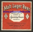 Malt Lager Beer Beer Label