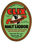 Clix Malt Liquor Beer Label
