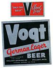Vogt German Style Lager Beer Label