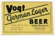 Vogt German Lager Beer Label