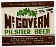 McGovern Pilsner Beer Label