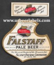 Falstaff Pale Beer Beer Label