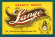 Lange Select Beer Label