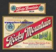 Rocky Mountain Beer Beer Label