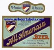 All American Beer Label