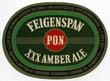 Feigenspan P.O.N. Amber Ale Beer Label