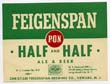 Feigenspan P.O.N. Half & Half Beer Label