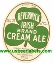 Irish Brand Cream Ale Beer Label