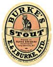 Burkes Stout Beer Label