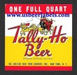 Tally Ho Beer Beer Label