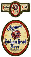Iroquois Indian Head Beer Label