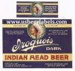 Iroquois Dark Indian Head Beer Beer Label