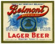 Belmont Lager Beer Label