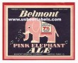 Pink Elephant Ale Beer Label