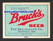 Brucks Beer Beer Label