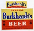 Burkhardts Special Beer Label