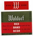 Waldorf Red Band Beer Label