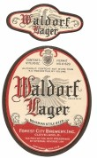 Waldorf Lager Bohemian Style Beer Label