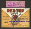Red Top Bock Beer Beer Label