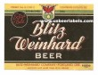 Blitz Weinhard Beer Label