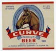 Curve Premium Beer Label
