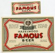 Hazelwood Famous Beer Label