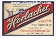 Horlacher Special High Grade Beer Label