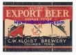 Kloidts Export Beer Beer Label
