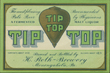 Tip Top Malt Liquor Beer Label