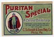 Puritan Special Beer Label