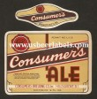 Consumers Ale Beer Label