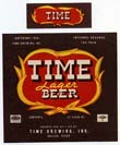Time Lager Beer Label