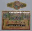 Alt Heidelberg Pale Beer Label