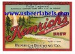 Hemrichs Special Brew Beer Label