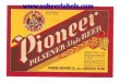 Pioneer Pilsener Beer Label