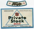 Blatz Private Stock Beer Label