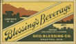 Blessing's Beverage Beer Label