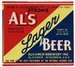 Als Lager Beer Label