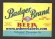 Badger Brand Beer Label