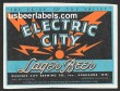 Electric City Lager Beer Label