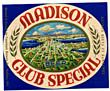 Madison Club Special Beer Label