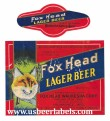 Fox Head Lager  Beer Label