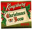 Kingsbury Christmas Brew Beer Label