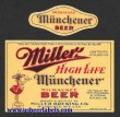 Miller Muenchener Beer Label
