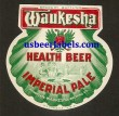 Waukesha Imperial Pale Health Beer Beer Label