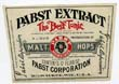 Pabst Extract Beer Label