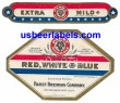 Red White & Blue Beer Label