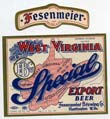 West Virginia Special Beer Label