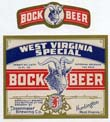 West Virginia Special Bock Beer Label